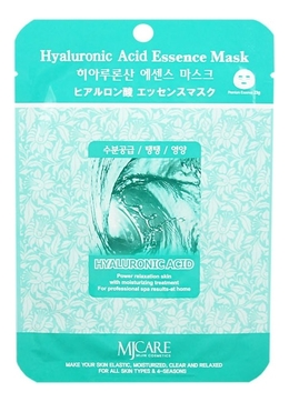 картинка Mijin Essence Маска тканевая гиалуроновая кислота Hyaluronic Acid Essence Mask 23гр